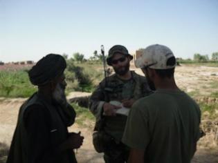 Maj. Matt Golsteyn in Afghanistan, April 2010