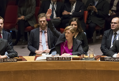 NY: With US Abstention, UN Security Council passes Resolution condemning Israeli settlements