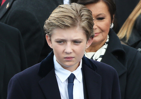 Barron Trump Spotted With Fidget Spinner Coming Out Of Air Force One