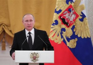 President Vladimir Putin addresses New Year reception at the Kremlin