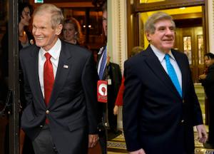 Sen. Bill Nelson (left), former senator Ben Nelson