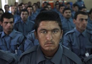 Afghan national police officers