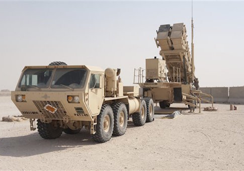 U.S. Army soldiers power-up a MIM-104 Patriot Missile System.