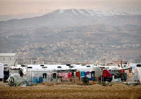 Syria refugee camp in Lebanon