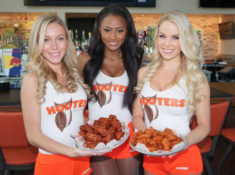 Hooters girls with wings