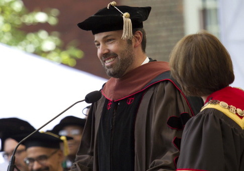 Ben Affleck at Brown Commencement / Getty Images