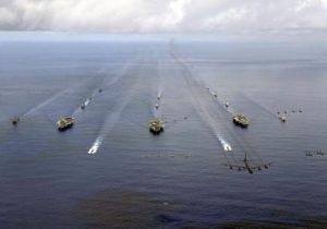 U.S. Navy Trains At Sea
