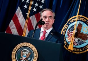US Secretary of Veterans Affairs David J. Shulkin