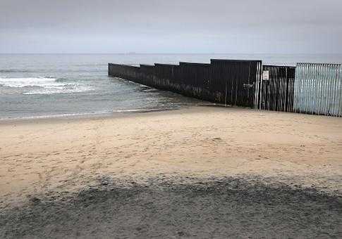 The U.S.-Mexico border fence in Tijuana, Mexico