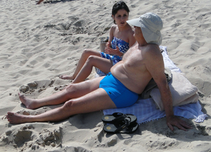 George Soros on the beach / Splash News
