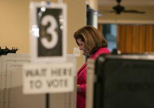 Republican candidate Karen Handel votes