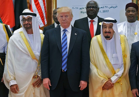 US President Donald Trump and Saudi Arabia's King Salman bin Abdulaziz al-Saud and Crown Prince of Abu Dhabi Mohammed bin Zayed Al Nahyan /US President Donald Trump and Saudi Arabia's King Salman bin Abdulaziz al-Saud and Crown Prince of Abu Dhabi Mohammed bin Zayed Al Nahyan /