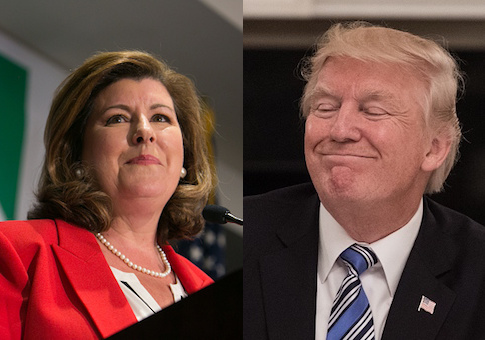 Karen Handel, Donald Trump