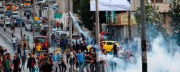 Palestinian protesters clash with Israeli security forces in the West Bank town of Bethlehem on July 19