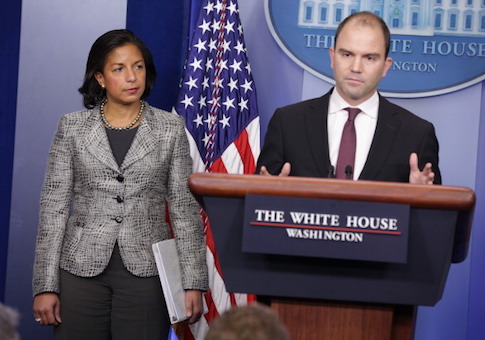 Ben Rhodes and Susan Rice