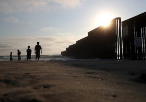 US-Mexican border fence at Playas de Tijuana