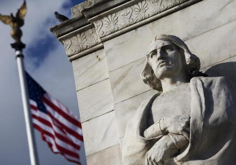 Statue of Christopher Columbus at Columbus Circle in front of Union Station in Washington, DC. / Getty Images