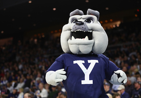 The Yale Bulldogs mascot
