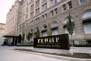 The Trump International Hotel on its first day of business September 12, 2016 in Washington, DC. / Getty Images