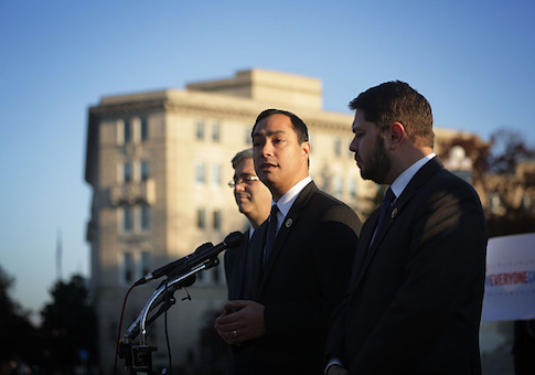 Members of the Congressional Hispanic Caucus hold a news conference