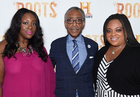Ashley Sharpton, Al Sharpton and Dominique Sharpton (R-L)) / Getty Images