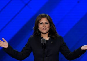 Neera Tanden, President of the Center for American Progress Action Fund, speaks at the Democratic National Convention / Getty Images