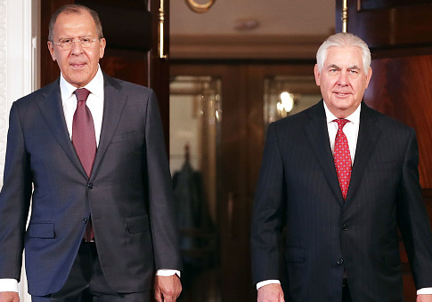 Russian Foreign Minister Sergey Lavrov (L) and U.S. Secretary of State Rex Tillerson / Getty Images