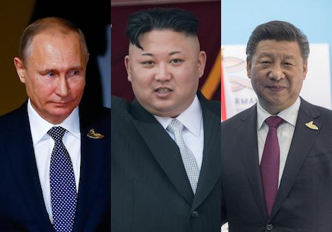 Putin Kim Xi