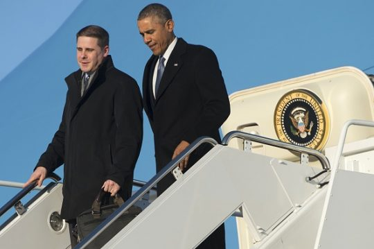 Barack Obama and Dan Pfeiffer / Getty