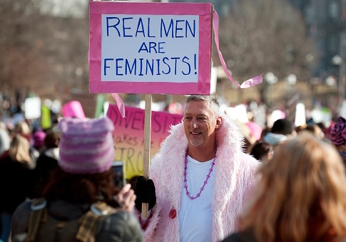 Demonstrators during the Women's March on Jan. 21, 2017 in Colorado / Getty Images