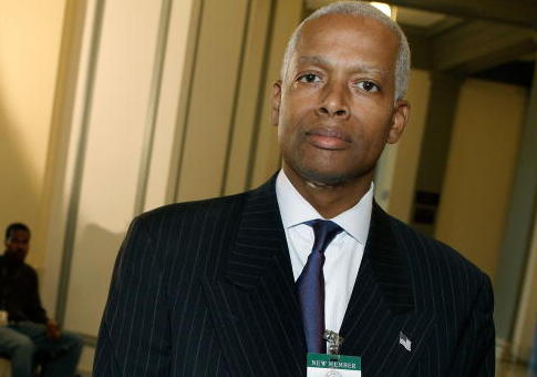 Hank Johnson (D-GA) poses for a picture during a break in his orientation class on Capitol Hill November 13, 2006 in Washington DC. The 110th Congress will be sworn in January 2007 when Congress reconvenes. / Getty Images