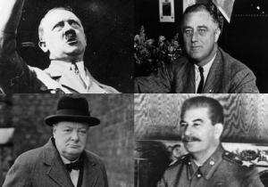 Hitler FDR Churchill Stalin