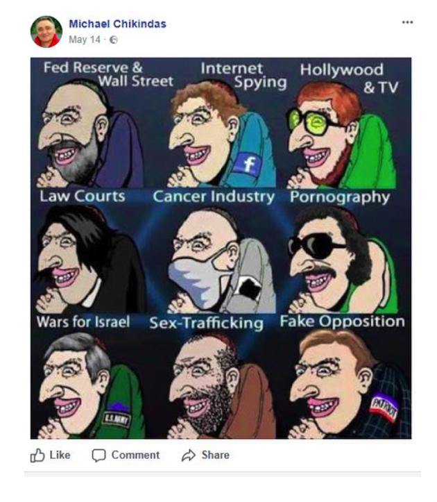 anti-Semitic post
