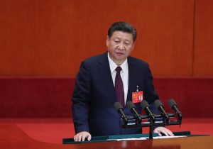 Chinese President Xi Jinping delivers a speech during the opening session of the 19th Communist Party Congress