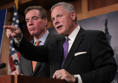 Senate Intelligence Committee chairman Richard Burr and committee vice chair Mark Warner