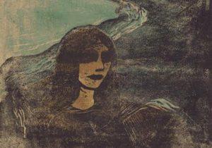 Girl's Head Against the Shore by Edvard Munch, 1899