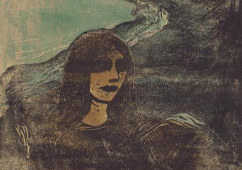 Girl's Head Against the Shore by Edvard Munch, 1899