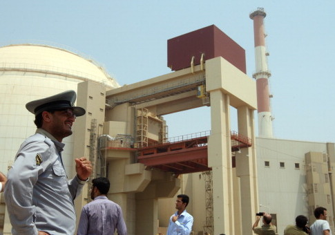 The reactor building at the Russian-built Bushehr nuclear power plant