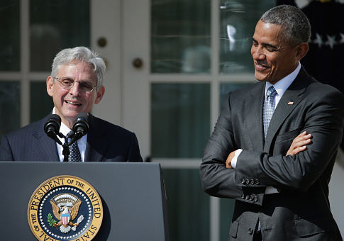 Judge Merrick Garland speaks after being introduced by President Barack Obama as his nominee to the Supreme Court in the Rose Garden at the White House, March 16, 2016 in Washington, DC. / Getty Images