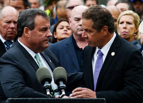 New Jersey Governor Chris Christie and New York Governor Andrew Cuomo