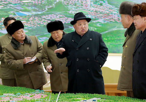 Kim Jong-Un visiting Samjiyon County in Ryanggang Province