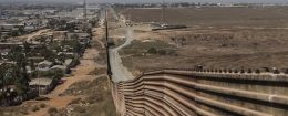 A wall is seen along the border between the United States and Mexico in Tijuana, Mexico