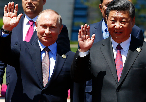 Chinese President Xi Jinping and Russian President Vladimir Putin