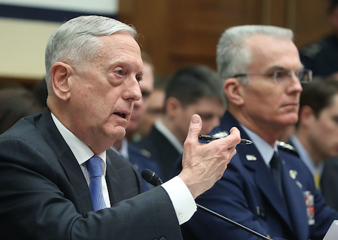 Defense Secretary Jim Mattis and Air Force Gen. Paul Selva, vice chairman of the Joint Chiefs of Staff, testify