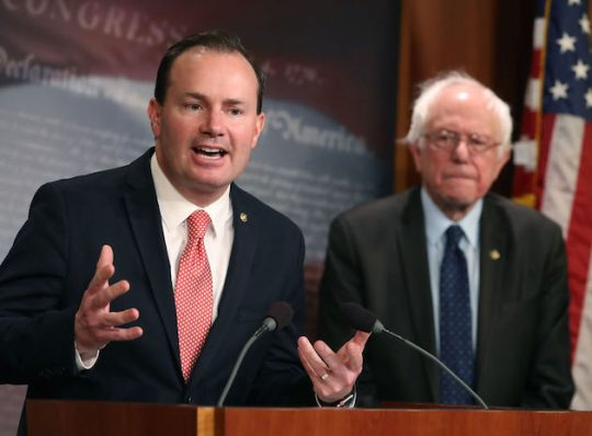 Sen. Mike Lee and Sen. Bernie Sanders