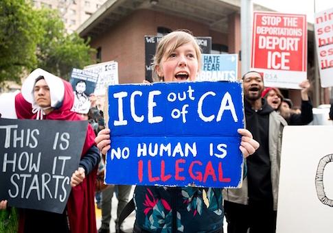 sanctuary state protest