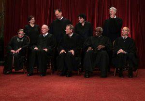 U.S. Supreme Court Justices Pose For Formal Portrait