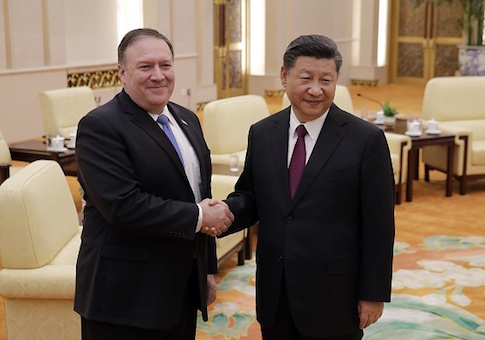 Secretary of State Mike Pompeo and Chinese President Xi Jinping