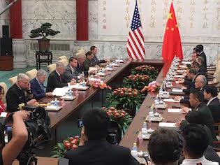 Mattis meets with Yang