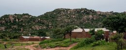 A general view of the Fulani village of Luggere, in Nigeria